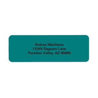Color sólido del trullo etiquetas de remite