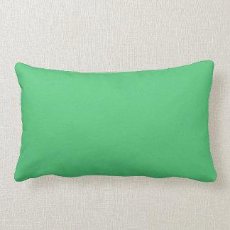 Color sólido del verde esmeralda almohada