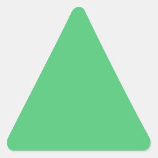 Color sólido del verde esmeralda pegatina triangular