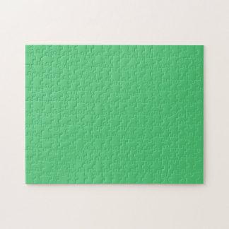 Color sólido del verde esmeralda rompecabeza con fotos