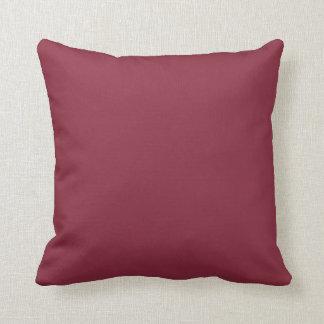 Color sólido del vino almohada