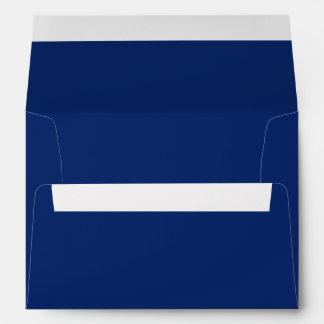 Color sólido del zafiro oscuro sobres
