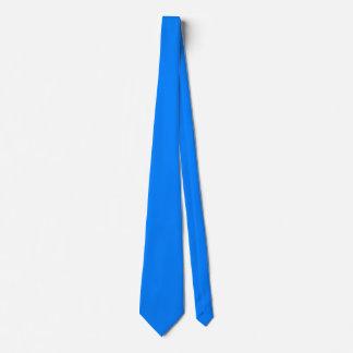 Color sólido echado a un lado doble azul corbata personalizada