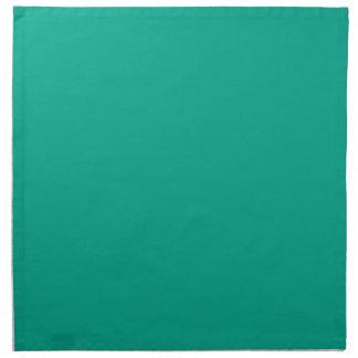 Color sólido esmeralda servilleta de papel