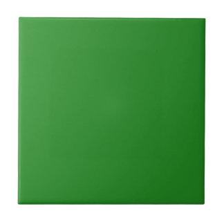 Color sólido Forest Green Azulejo Cuadrado Pequeño