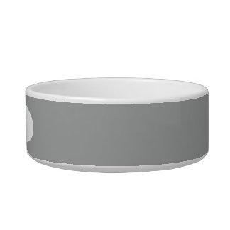 Color sólido gris del brezo comedero para mascota