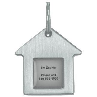 Color sólido gris del brezo placas de mascota
