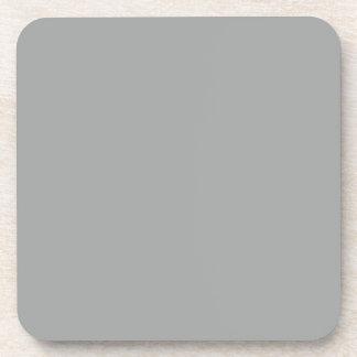 Color sólido gris del brezo posavasos de bebidas