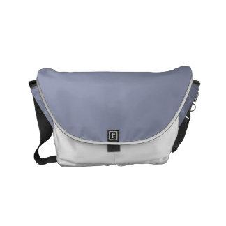 Color sólido gris tranquilo bolsas de mensajería