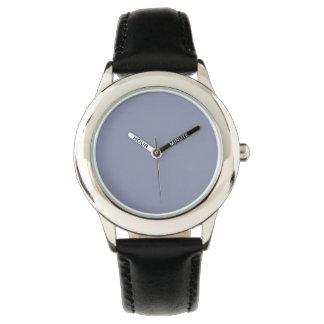 Color sólido gris tranquilo reloj