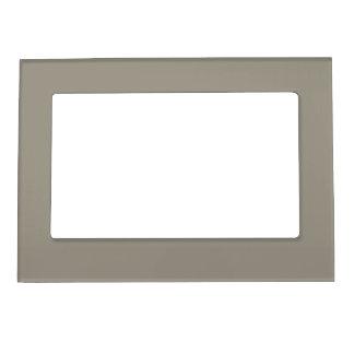 Color sólido ligero del gris de acero marcos magnéticos de fotos