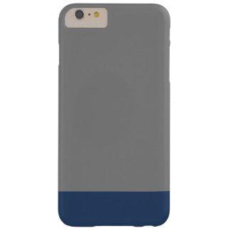 Color sólido llano simple del gris de azules funda de iPhone 6 plus barely there