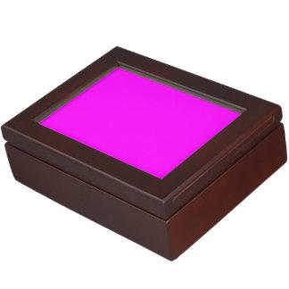 Color sólido magenta caja de recuerdos