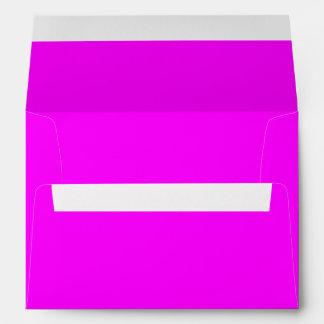 Color sólido magenta sobres