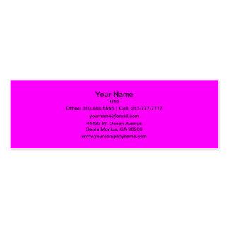 Color sólido magenta tarjetas de visita mini