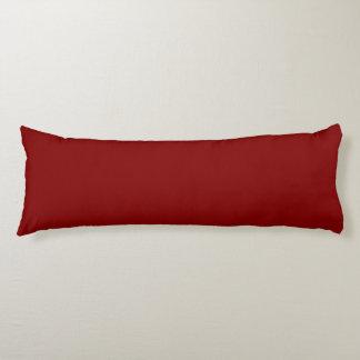 Color sólido marrón almohada larga