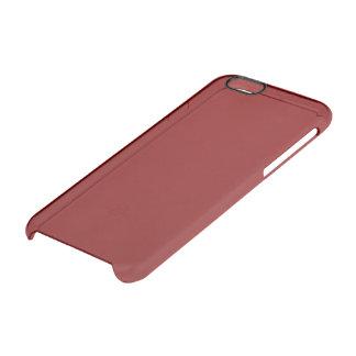 Color sólido marrón funda clearly™ deflector para iPhone 6 de uncommon