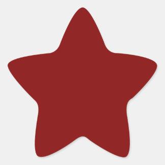 Color sólido marrón pegatina en forma de estrella