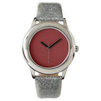Color sólido marrón relojes de mano