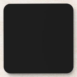 Color sólido Negro Posavasos De Bebidas