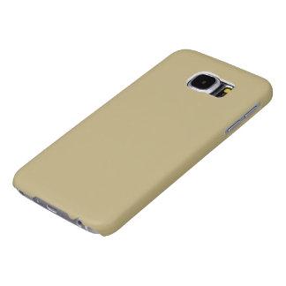 Color sólido oscuro de Champán Fundas Samsung Galaxy S6