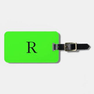 Color sólido personalizado verde de neón etiquetas para maletas