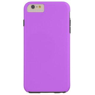 Color sólido: Púrpura de la lila Funda De iPhone 6 Plus Tough