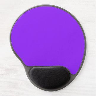 Color sólido púrpura de neón alfombrillas de ratón con gel