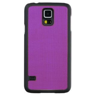 Color sólido púrpura de neón funda de galaxy s5 slim arce