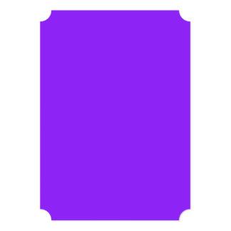 Color sólido púrpura de neón invitación 12,7 x 17,8 cm
