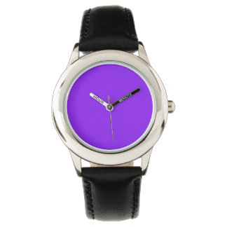 Color sólido púrpura de neón relojes de pulsera