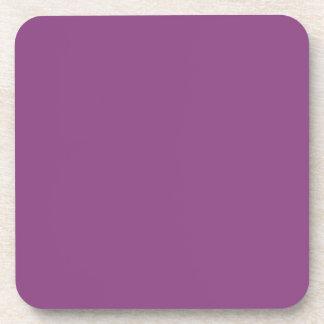 Color sólido: Púrpura del ciruelo Posavasos De Bebidas