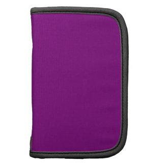 Color sólido púrpura elegante. El tender del color Organizadores