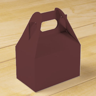 Color sólido rojizo caja para regalos