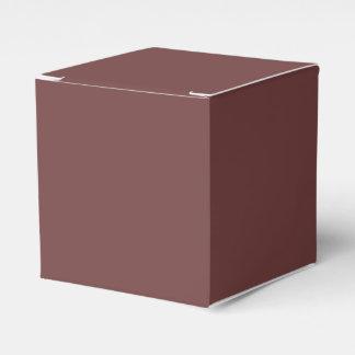 Color sólido rojizo cajas para regalos de fiestas