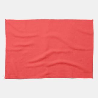Color sólido: Rojo coralino Toalla