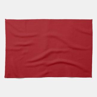 Color sólido: Rojo del arándano Toallas De Mano
