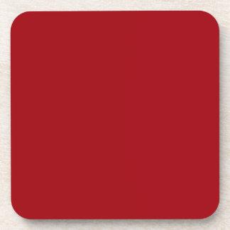 Color sólido: Rojo del arándano Posavasos De Bebidas