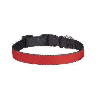 Color sólido rojo del Firebrick Collares De Perro