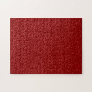 Color sólido rojo oscuro puzzle