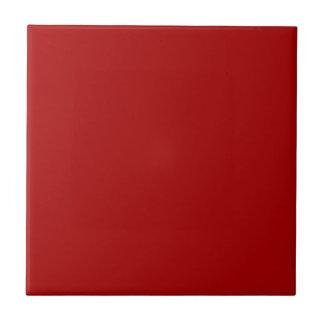Color sólido rojo quemado azulejo cuadrado pequeño