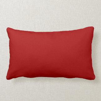 Color sólido rojo quemado cojines