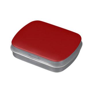Color sólido rojo quemado jarrones de dulces