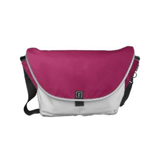 Color sólido rojo violeta bolsas de mensajeria