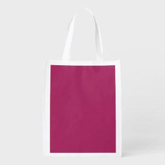 Color sólido rojo violeta bolsa reutilizable