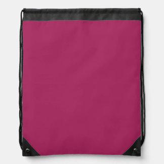 Color sólido rojo violeta mochilas