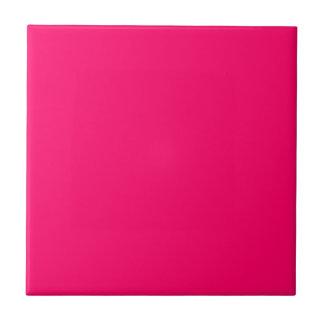 Color sólido rosado brillante azulejo cuadrado pequeño