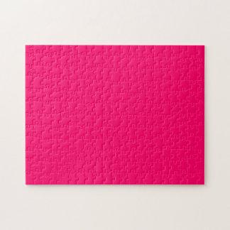 Color sólido rosado brillante rompecabeza