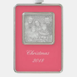 Color sólido rosado de la sandía adornos navideños
