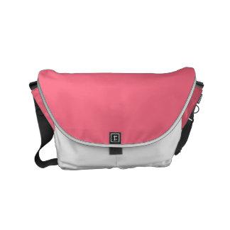 Color sólido rosado de la sandía bolsa messenger